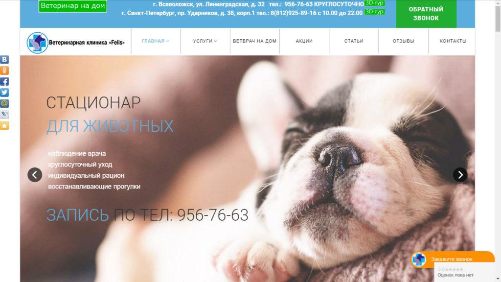 Ветеринарная клиника на проспекте Ударников - ветклиника Felis