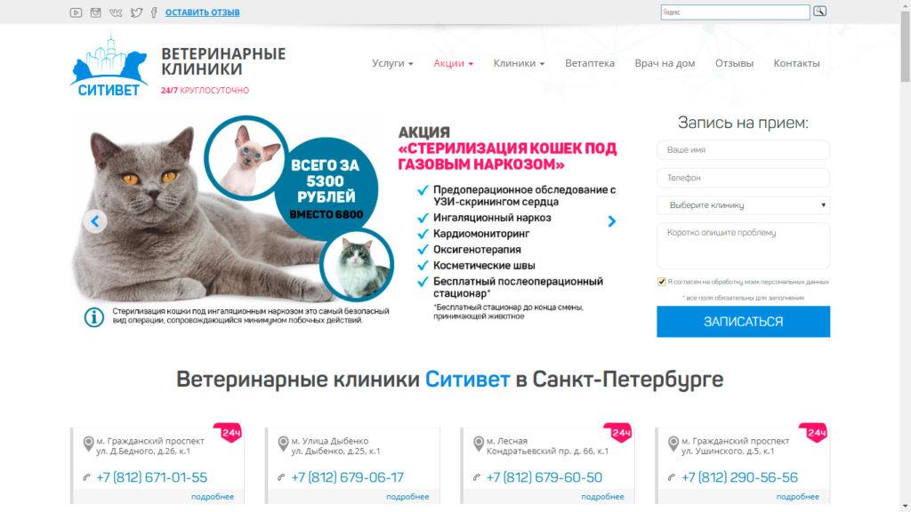 Ветеринарная клиника на проспекте Сизова - ветклиника СитиВет